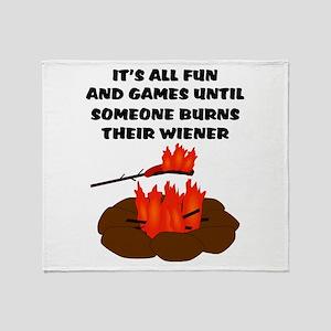 Someone Burns Wiener Throw Blanket