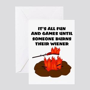 Someone Burns Wiener Greeting Card