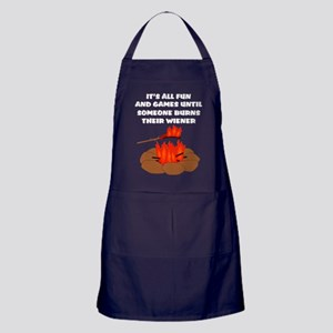 Someone Burns Wiener Apron (dark)