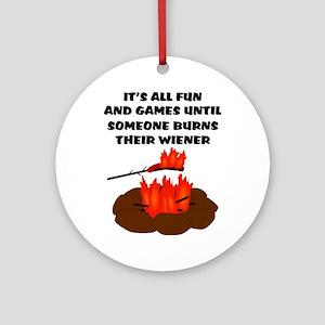 Someone Burns Wiener Ornament (Round)