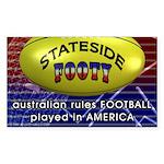 Stateside Footy TV Sticker (Rectangle 10 pk)