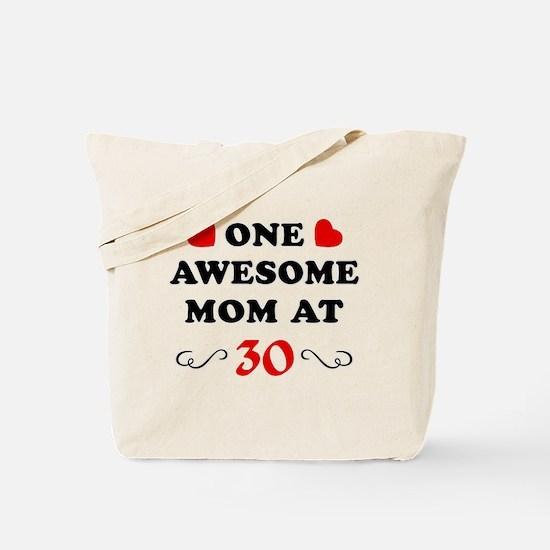 30th Birthday Awesome Mom Tote Bag