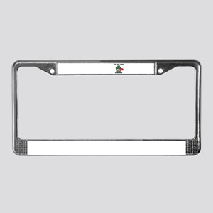 I'M NOT IRISH KISS ME ANYWAYS License Plate Frame