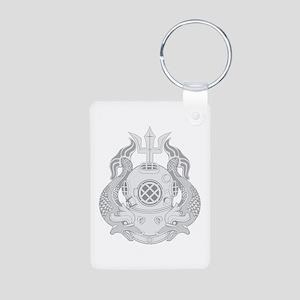 Master Diver Aluminum Photo Keychain