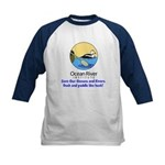 Ocean River Duck and Paddle Kids Baseball Jersey