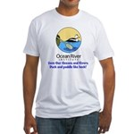 Ocean River Duck and Paddle Fitted T-Shirt