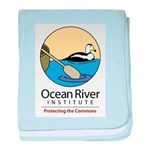 Ocean River duck baby blanket