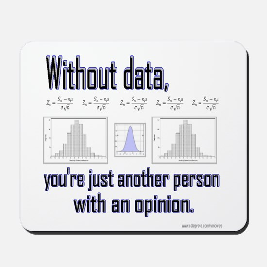 Without Data... Mousepad