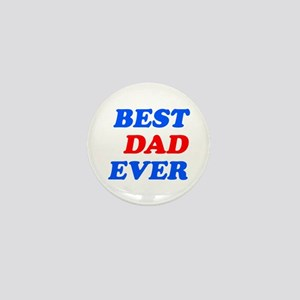 best dad ever (blue/red) Mini Button