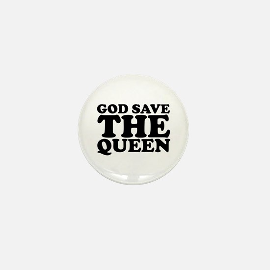 God Save the Queen (text: bla Mini Button