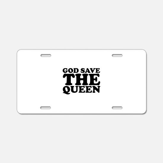 God Save the Queen (text: bla Aluminum License Pla