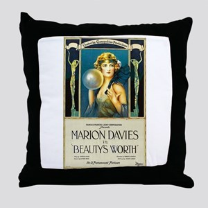 Beauty's Worth Throw Pillow