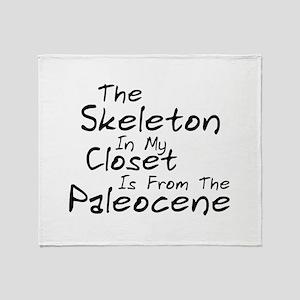 Paleocene Humor Throw Blanket