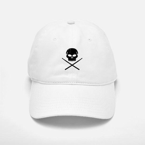 Skull and Drum Sticks Baseball Baseball Cap