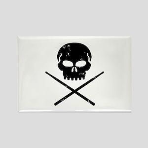 Skull and Drum Sticks Rectangle Magnet