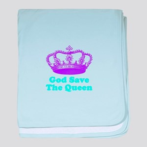 God Save the Queen (purple/tu baby blanket