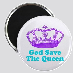God Save the Queen (purple/tu Magnet