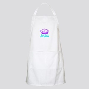 God Save the Queen (purple/tu Apron