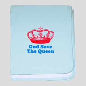God Save the Queen (red/blue) baby blanket
