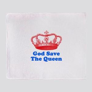 God Save the Queen (red/blue) Throw Blanket