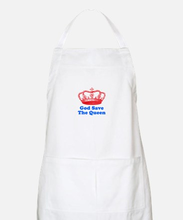 God Save the Queen (red/blue) Apron