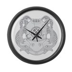 First Class Diver Large Wall Clock