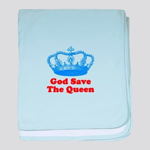 God Save the Queen (blue/red) baby blanket