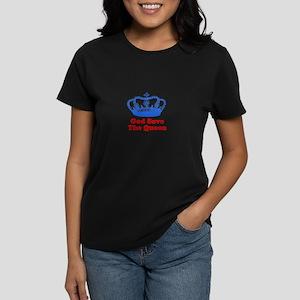 God Save the Queen (blue/red) Women's Dark T-Shirt