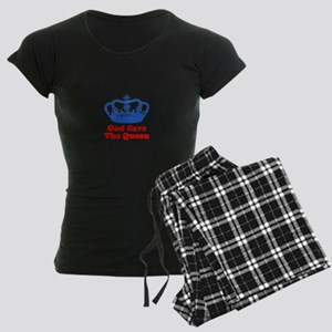 God Save the Queen (blue/red) Women's Dark Pajamas