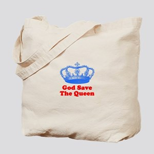 God Save the Queen (blue/red) Tote Bag