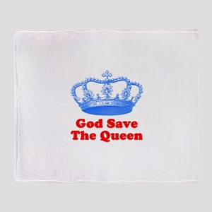 God Save the Queen (blue/red) Throw Blanket
