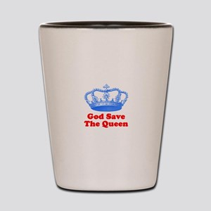 God Save the Queen (blue/red) Shot Glass