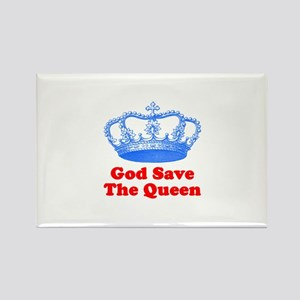 God Save the Queen (blue/red) Rectangle Magnet