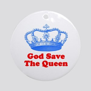 God Save the Queen (blue/red) Ornament (Round)