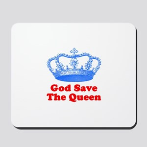 God Save the Queen (blue/red) Mousepad