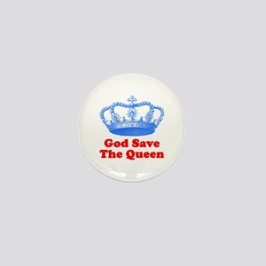 God Save the Queen (blue/red) Mini Button