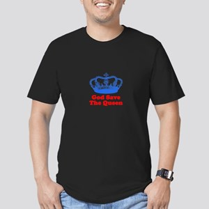 God Save the Queen (blue/red) Men's Fitted T-Shirt
