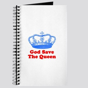 God Save the Queen (blue/red) Journal