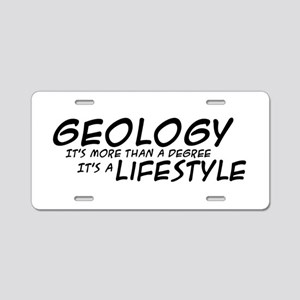 Geology Lifestyle Aluminum License Plate