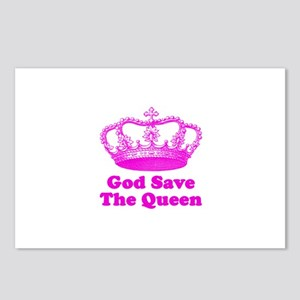 God Save the Queen (pink) Postcards (Package of 8)