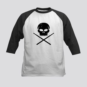 Skull and Drum Sticks Kids Baseball Jersey