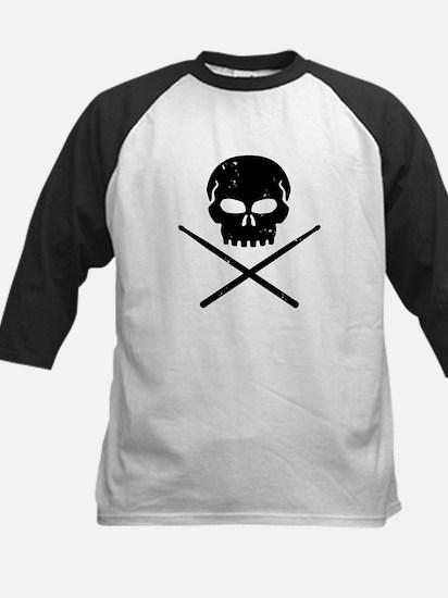 Skull and Drum Sticks Kids Baseball Jersey