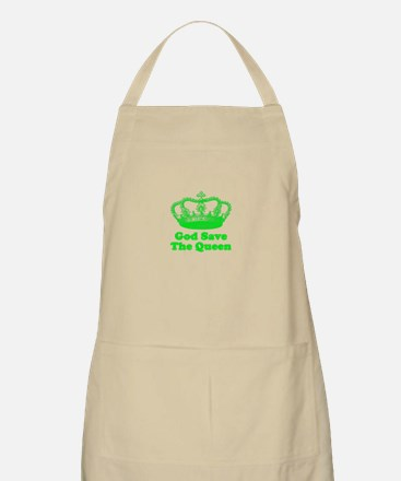 God Save the Queen (green) Apron