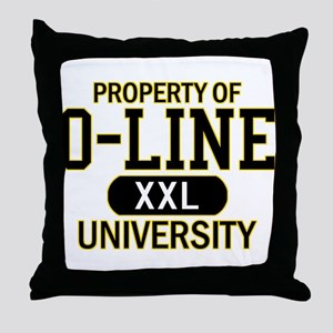 O-LINE U Throw Pillow