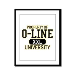 O-LINE U Framed Panel Print
