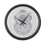 Second Class Diver Large Wall Clock