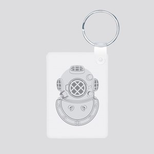 Second Class Diver Aluminum Photo Keychain