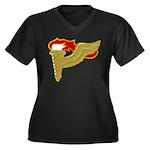 Pathfinder Women's Plus Size V-Neck Dark T-Shirt