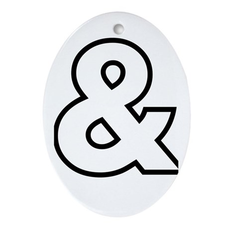 Ampersand Ornament (Oval)