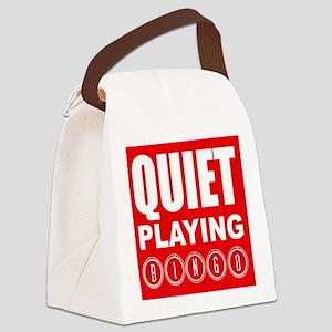 Quiet Playing Bingo Canvas Lunch Bag